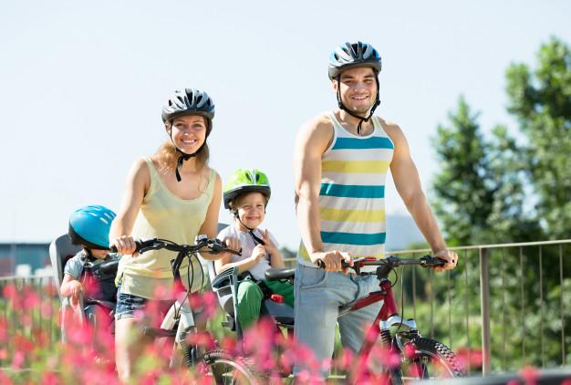 Famille vélo
